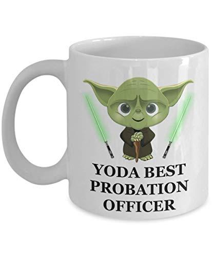 N\A Taza Yoda Best Probation Officer - Regalos de Fiesta de cumpleaños para el Personal del Empleado Esposo Hombres Mujeres Him Her Star Wars Jedi Taza de café