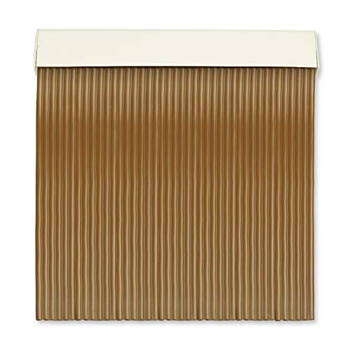 Cortinas Exterior Puerta | 6 Cañas Plastico PVC y Barra Aluminio | Ideal para Terraza y Porche | Antimoscas | Marron Oscuro | 210 * 120
