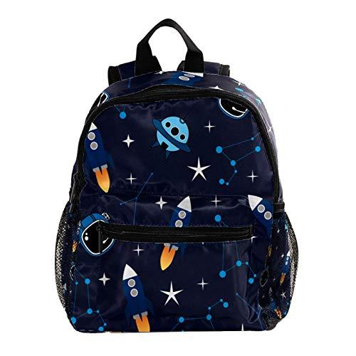 Cool Backpack Kids Sturdy Schoolbags Back to School Backpack for Boys Girls,Cute Cartoon Rocket
