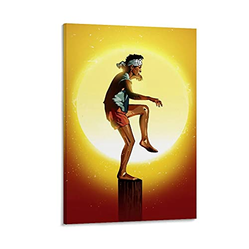 HZHI Póster de anime para niños, karate, arte de pared, sala de estar, dormitorio, impresión moderna, decoración familiar, regalo de oficina, 20 x 30 cm