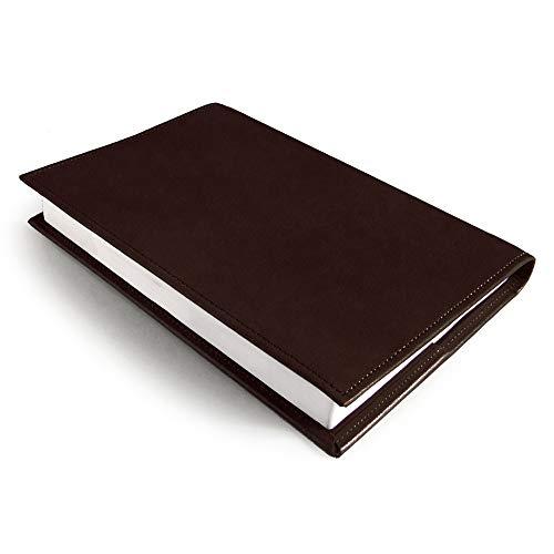 国産 かばん屋さんの手作り 本革 レザー ブックカバー A5サイズ (チョコ)
