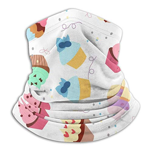 Winter Neck Gaiter Face Cover Shield Cloth Wind Protection (Windmmer Colorful Ice Cream Cake) For Men/Women Fishing & Cycling
