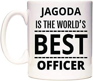 JAGODA Is The World's BEST Officer Taza por WeDoMugs®