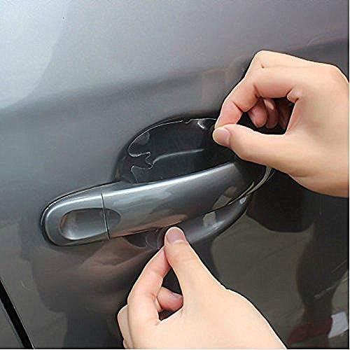 Pulusi 12 Stücke Universal Unsichtbare Autotürgriff Farbe Kratzschutz Aufkleber Schutzfolie Auto