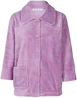 Ladies Supersoft Coral Fleece Warm Winter Bed Jacket Pink Lilac Size 10-12 24-26