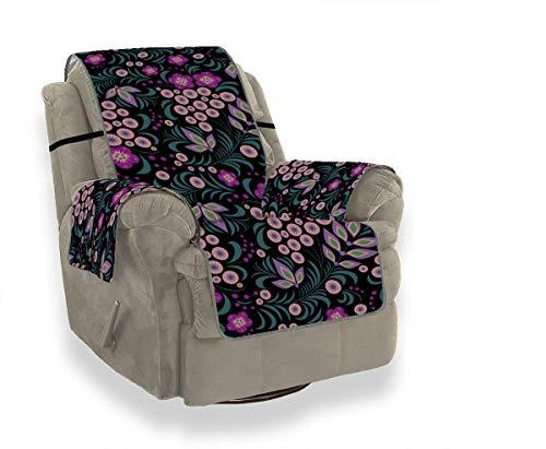 JIUCHUAN Puple Spring Retro Flieder Blume Universal Stuhl Schonbezug Schonbezug Ohrensessel Sofa Segelflugkissen 21