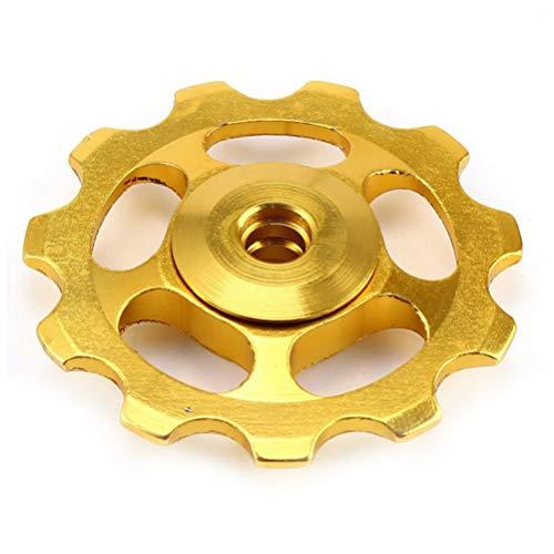 VORCOOL Rueda de la polea del desviador del cambio de la rueda de bicicleta de la bici del oro 11T 2pcs para Shimano