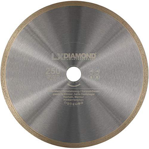 LXDIAMOND Diamant-Trennscheibe 250mm x 25,4mm für Fliesen Feinsteinzeugfliesen Natursteinfliesen Marmor Diamantscheibe 250 mm
