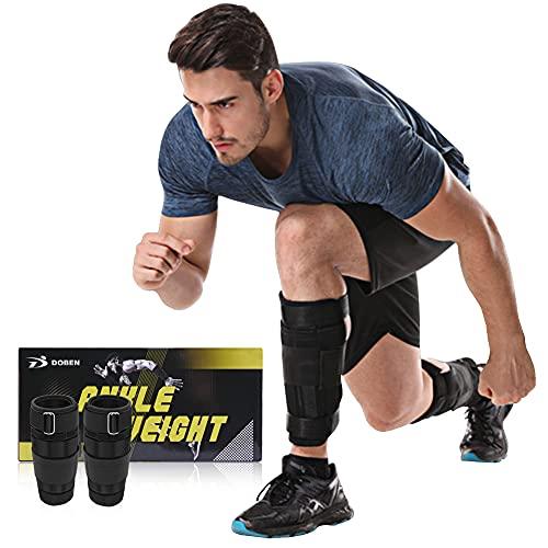 DOBEN Fußgewichte zum Joggen 3kg,Gewichtsmanschetten Stahl - Knöchelgewichte für Hand- & Fußgelenke,Fußgewichte Einstellbar