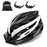 KINGBIKE Bike Helmet Men Women Bicycle Adult Cycling Specialized Road Mountain MTB Helmets for Mens Womens Adults Casco para Bicicleta with Safety Light Portable Bag Accessories M/L (56-60CM)