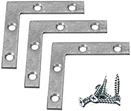 Extra Heavy Duty 12 Pack L Type Flat Zinc Plated Steel Corner Braces Angle Brackets 2.5