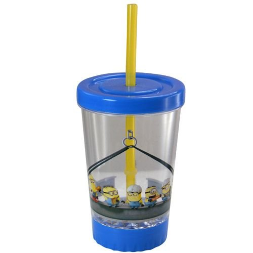 Despicable Me Minions 12oz Light Up Fun Sip LED Tumbler with Straw