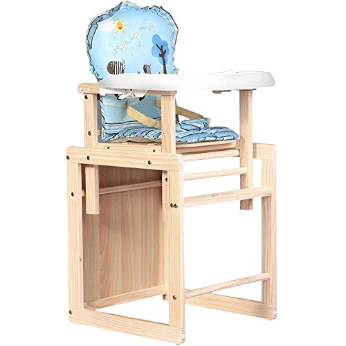 Purchase TONGSH Baby 2-in-1 High Chair Toddler Highchair Wooden Feeding Seat Home Restaurants (Natur...