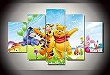 Winnie The Pooh HD-Druck 5 Stück Leinwand Malerei Cartoon