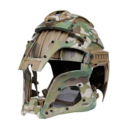 Casco táctico Militar Airsoft Paintball PC Lente táctico Casco Cubierta Completo Casco Accesorios CS War-Game Shooting