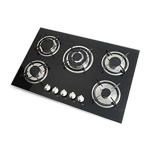 30 pouces 5 plaques de cuisson à gaz Cuisinière intégrée Cuisinière à gaz Table de cuisson vitrocéramique Table de cuisson à gaz Table de cuisson au gaz naturel et au gaz propane