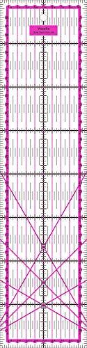 Vesalia Patchwork Lineal Zentimeterraster 40 cm x 10 cm (Pink)
