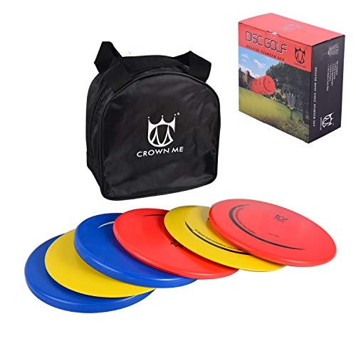 CROWN ME Disc Golf Set with 6 Discs and Starter Disc Golf Bag – Fairway...