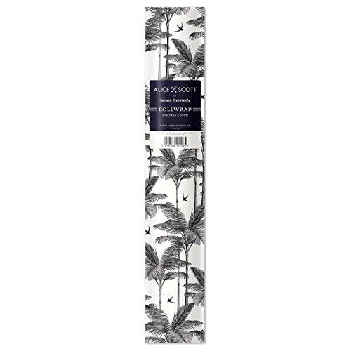 Alice Scott Palm zwart wit rolgordijn 3 m x 700 mm