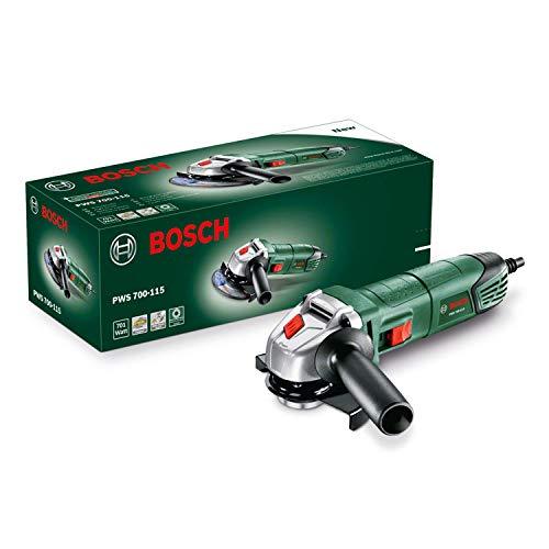 Bosch DIY Tools 06033A240A Amoladora angular (701 W, diámetro de disco: 115 mm, en caja)