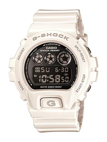 Casio DW6900NB-7 DW6900NB7 - Orologio da polso da uomo, cinturino in resina colore bianco