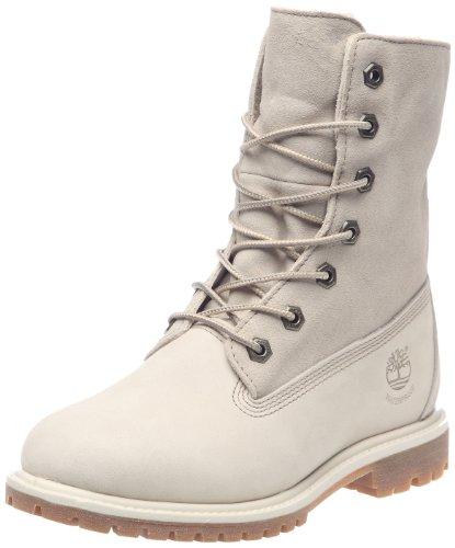 Timberland Authentics Teddy Fleece Fold Down Boot, Damen Stiefel, Weiß, Gr. 41