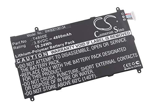 vhbw Batterie 4800mAh (3.8V) pour Tablette Netbook Samsung Galaxy Tab Pro 8.4, SM-T325, SM-T327, SM-T327A remplace Samsung T4800E.