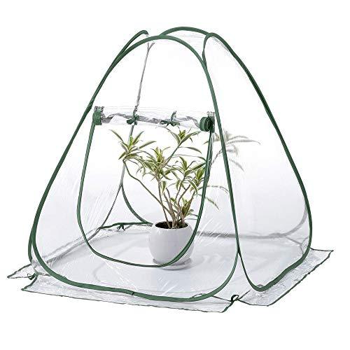 Fuoliystep Mini Carpa de Invernadero Refugio de Plantas Carpa de Invernadero Emergente Casa de Cultivo de Pvc Pequeña Cubierta de Maceta de Jardín Interior Al Aire Libre Protector de Flores