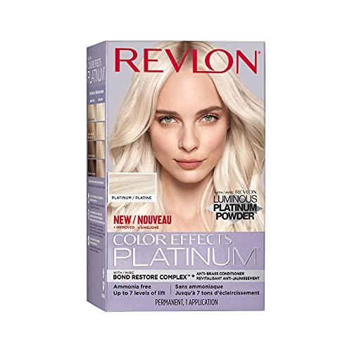Revlon Color Effects Hair Color, Permanent Platinum Blonde Hair Dye with Nourishing Keratin & Jojoba Seed Oil, Ammonia Free