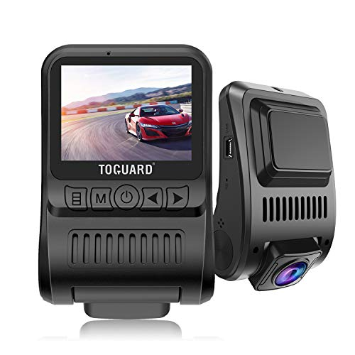 TOGUARD Dashcam Autokamera für Armaturenbrett 4 K 3840 x 2160P mit GPS und Nachtsicht,170° Weitwinkel, Loop-Aufnahme,G-Sensor,Parkmonitor Travelapse Weißabgleich 2 Zoll