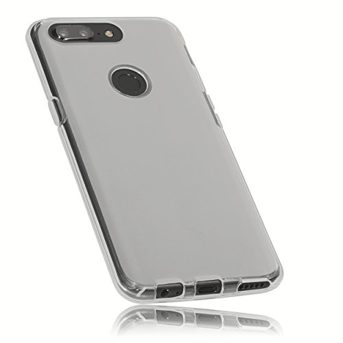 mumbi Hülle kompatibel mit OnePlus 5T Handy Hülle Handyhülle, transparent weiss