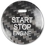 sikmoi Accesorios para automóviles Pegatinas Ajuste Interior de Fibra de Carbono Botón de Arranque del Motor del automóvil , para Mazda Axela Atenza CX-3 CX-4 CX-5 CX-8 MX-5