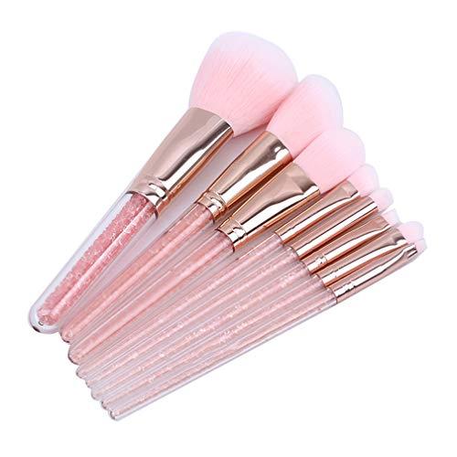 LJSLYJ 8 Pcs Cristal Maquillage Pinceau Ombre à Paupières Flawless Concealer Plis Sourcils Fondation Brosses pour Brosse Visage Outils