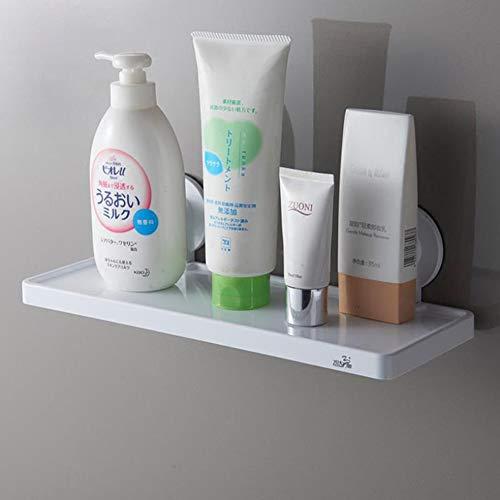 Kinear Organizador de baño sin taladrar estante de ducha con ventosa para ducha de alta resistencia, cesta de ducha con ventosa para baño y cocina