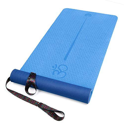 XGEAR Yoga Mat For Hatha Yoga For Women with Carrying Strap - TPE Exercise Workout Mat (72''X 24''X1/4'') - Eco...