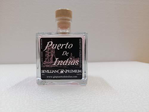 Miniatura de Gin Puerto de Indias Fresa 10cl 37,5% Alcohol