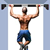 Chin Up Bar Doorway, Adjustable Width Door Pull Up Bar No Screw with High Density Foam, Iron Gym Pull Up Bar for Doorway for Home Workout Fitness& 440 LBS