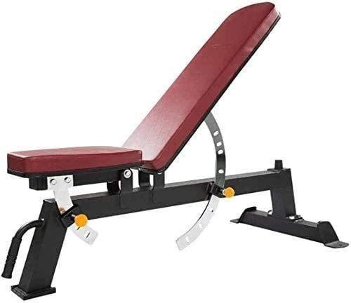 Banco de pesas ajustable, ajustable, multifunción, plegable, banco de pesas para sentarse, ejercicio familiar, fitness, para toda la familia, banco de ejercicio (color: rojo, tamaño: 45 x 145 cm)