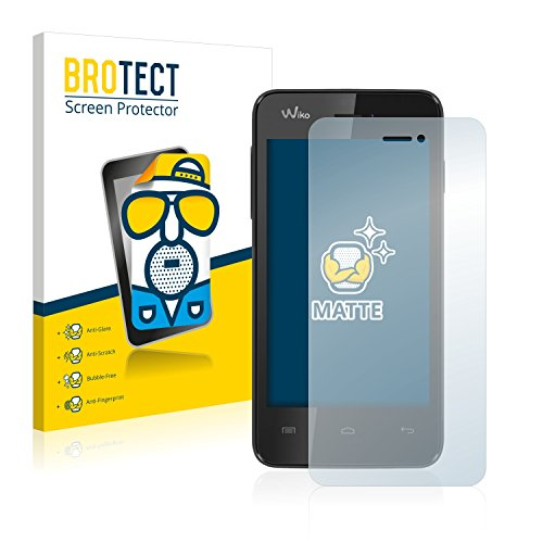 BROTECT 2X Entspiegelungs-Schutzfolie kompatibel mit Wiko Kite Bildschirmschutz-Folie Matt, Anti-Reflex, Anti-Fingerprint
