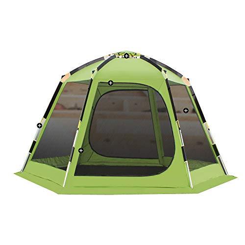 zcyww Sechseckiges Automatikzelt Im Freien 6-10 Personen/Camping Kostenlos Zum Aufbau Eines Doppelzeltes