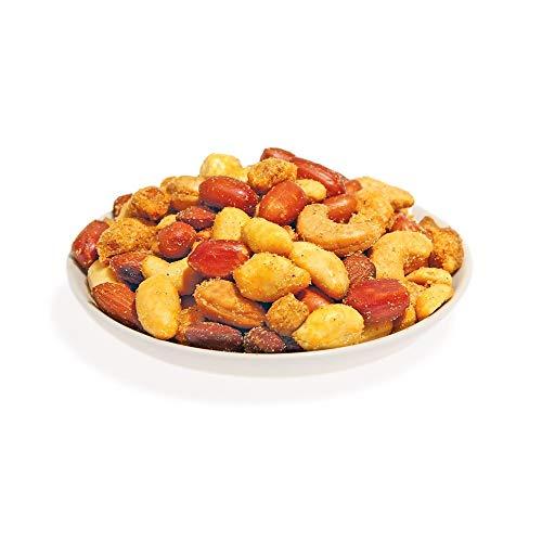 KERNenergie Safari Nuss-Mischung, geröstet – Nuss-Mix pikant gewürzt, Erdnüsse, Cashews, Katjang Pedis & Mandeln in Chili- und Paprika-Gewürz, 2 x 500 g