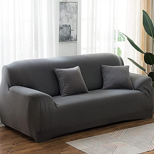 WXQY Funda de sofá elástica para Sala de Estar Funda de sofá de Spandex Completa Funda de Muebles combinada Antideslizante Funda de sofá de Esquina en Forma de L A18 2 plazas