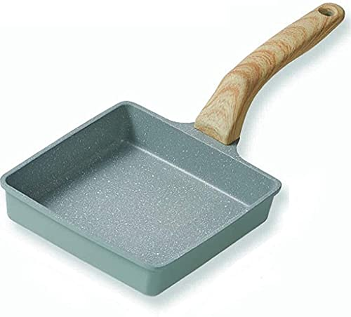 Woks y Sartenes para freír Natural Maifan Piedra Mini Frying Pan de freatoria Recubrimiento antiadherente Utensilios de cocina Desayuno panqueque Pan Multifunción Pot Multifunción Enviar Sponge