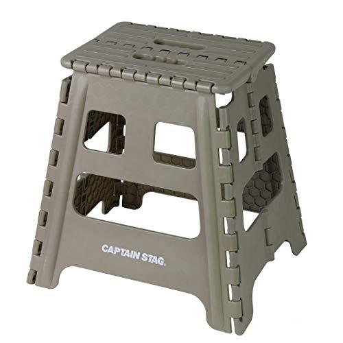 【Amazon.co.jp 限定】 キャプテンスタッグ(CAPTAIN STAG) 踏み台 ステップ 椅子 折りたたみステップ Lサイズ カーキ UW-1514