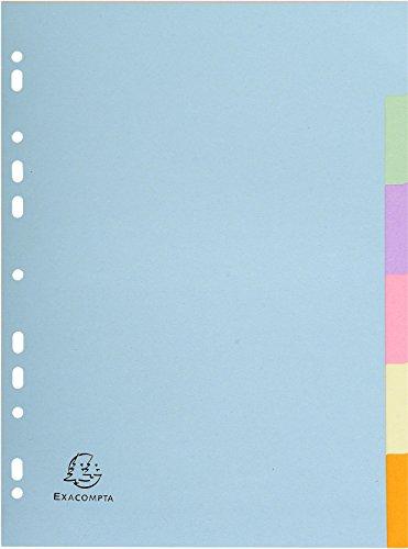 Register A4 Recyclingkarton 6-tlg