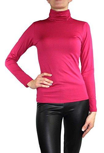 Muse Damen Langarm Rollkragen Termoshirt Größe 36 /S Farbe Pink