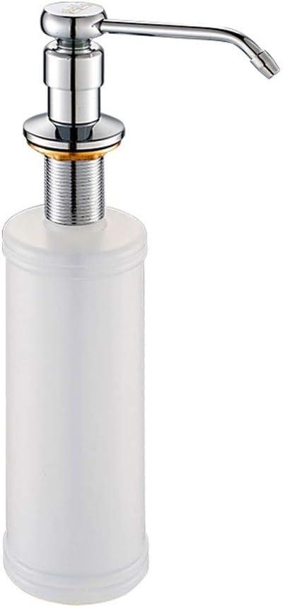 Botella de jabón Baño Cocina Dispensador de jabón Mano Jabón Baño Grifo Fregadero Jabón Dispensador Cocina Loción Bomba Botella de almacenamiento Bomba de líquido para cocina y baño ( Color : White )