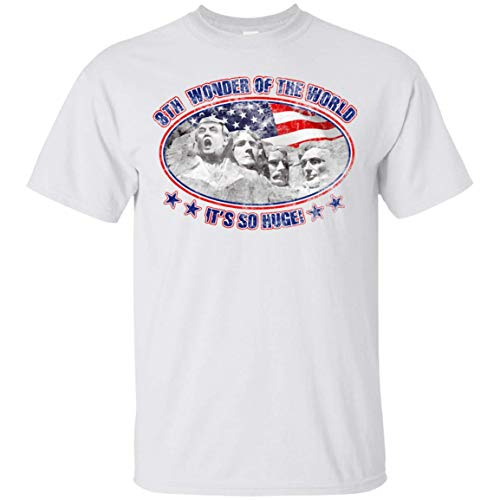 Swag Attack Gear 25th Wonder of The World/Mount Trumpmore T-Shirt White X-Large