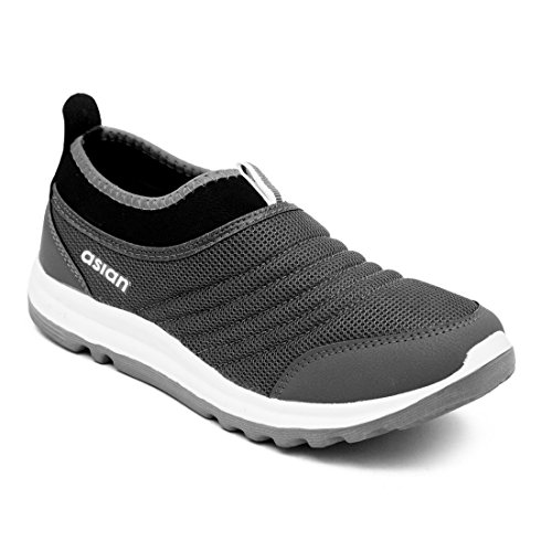 ASIAN Prime-02 Grey Running Shoes,Training Shoes,Gym Shoes,Sports Shoes,Casual Shoes,Tennis Shoes,Volleyball Shoes for Men UK-11