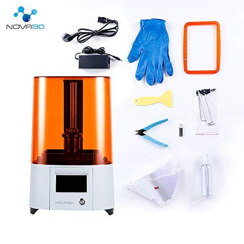 NOVA3D Elfin LCD 3D Resin Drucker Druckbereich von 132 x 74 x 150mm mit WLAN/Offline-Drucken, 4.3 Zoll Farbtouchscreen - 6